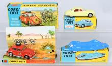 CORGI toys VOLKSWAGON 1200, JAGUAR 2-4 & BLUEBIRD