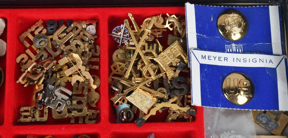 US MILITARY OFFICER UNIFORM INSIGNIA PINS LOT