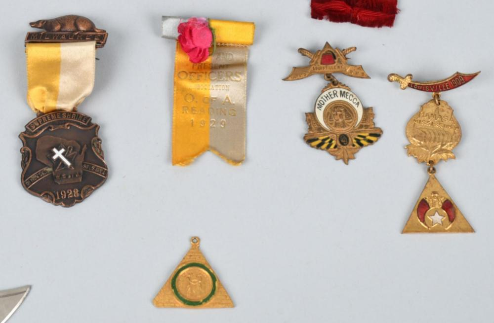18- EARLY MASONIC & FATERNAL ORDER MEDALS & MORE