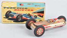 JAPAN Tin Friction TURN OVER RACE CAR w/ BOX