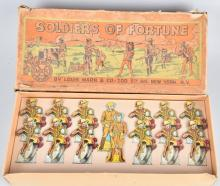MARX SOLDIERS OF FORTUNE MOTORCYCLE SET w/BOX