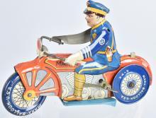 MARX Tin Windup BALLOON TIRE MOTORCYCLE