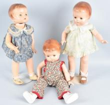 3-EFFANBEE COMPOSITION PATSY ANN DOLLS