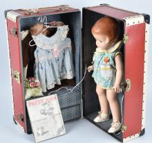 EFFANBEE PATSY ANN DOLL with TRUNK & BOOK
