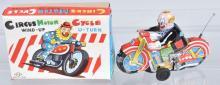 JAPAN Tin Windup CIRCUS MOTORCYCLE w/ BOX