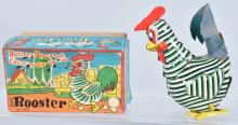 JAPAN Battery Op COCK-A-DOO-DLE DOO ROOSTER w/BOX