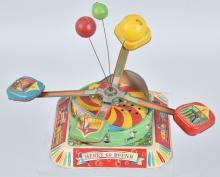 JAPAN Tin Windup MERRY GO ROUND SCRAMBLER