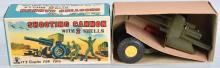 JAPAN Tin SHOOTING CANNON w/ SHELLS w/BOX