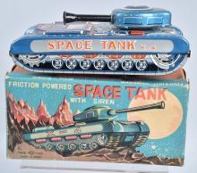 JAPAN Tin Friction SPACE TANK X-4 w/BOX