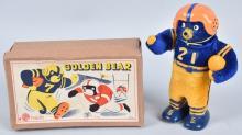 JAPAN Windup CAL GOLDEN BEAR FOOTBALL PLAYER w/BOX