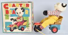 LINEMAR Tin Friction Pull COASTER PANDA w/BOX