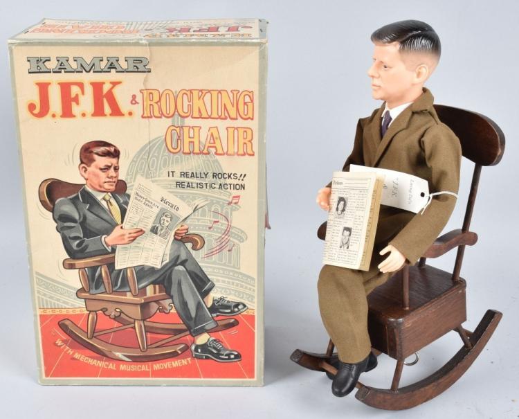 Lot 69: KAMAR JOHN F KENNEDY & ROCKING CHAIR w/BOX