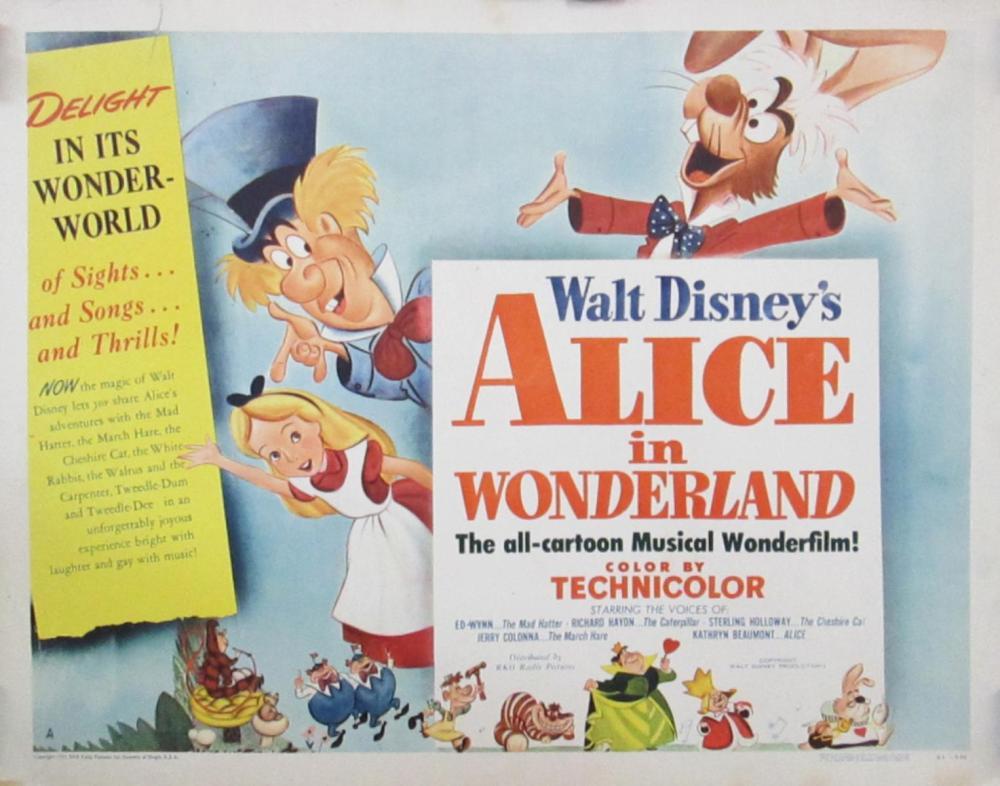 ALICE IN WONDERLAND ROLLED HALF SHEET