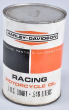 HARLEY DAVIDSON 1960'S RACING OIL FULL CAN