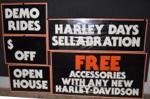 HARLEY DAVIDSON DEALER 5 SECTION SALE SIGN