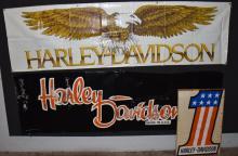 3-HARLEY DAVIDSON SIGNS