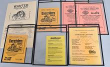 LOT OF 7 HARLEY & EASY RIDER FLYERS