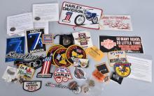 HUGE HARLEY DAVIDSON LOT, PINS, DECALS & MORE