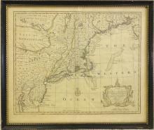Emanuel Bowen, map Eastern Seaboard