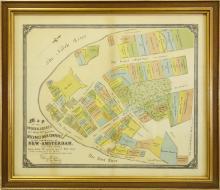 Samuel Holland / H.D. Tyler, map early Manhattan