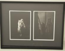(2) black and white theatrical photos