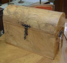 Italian olivewood dome top trunk