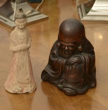 Japanese and Chinese ceramic figures