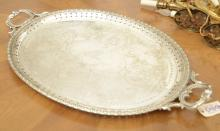 Large Sheffield silver plated serving tray