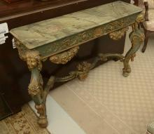 Italian Rococo style gilt and painted console
