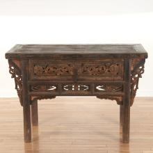 Chinese Provincial carved wood altar table