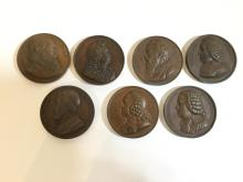 (7) French commemorative bronze medals