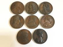 (8) French commemorative bronze medals