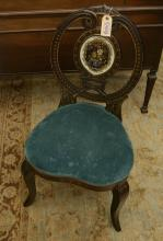 Nice Victorian jeweled eglomise splat side chair