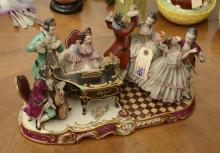 Large German Dresden style figural group