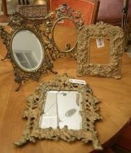 (4) Victorian and Belle Epoque gilt metal frames