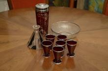 Collection Art Deco glass barware