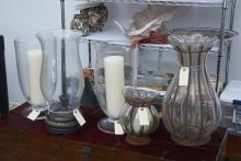 (5) hurricane candleholders and photophores