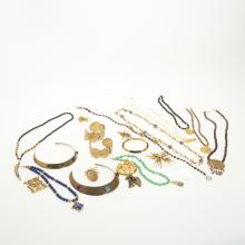 Group gold-tone costume jewelry