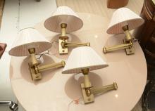 (4) Hansen style wall mount swing arm lamps