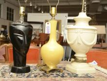 (3) Mid-Century table lamps