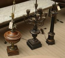 (3) vintage Italian style table lamps