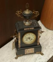 Japy & Cie marble, bronze mantel clock