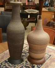 (2) Mid-Century Modern ceramic table lamps
