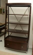 Bernhardt metal trussed open bookcase