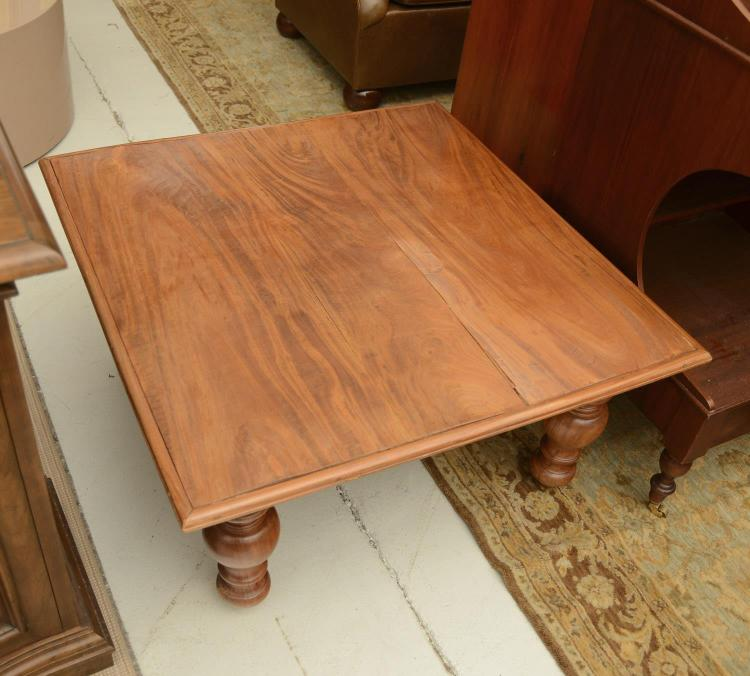 Anglo Indian Style Turned Hardwood Coffee Table