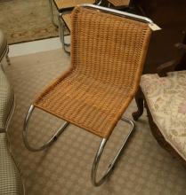 Mies Van Der Rohe rattan MR side chair