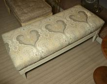 Contemporary designer painted bench