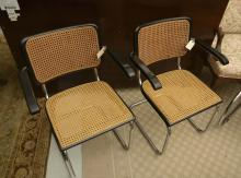 Pair Breuer style dining chairs