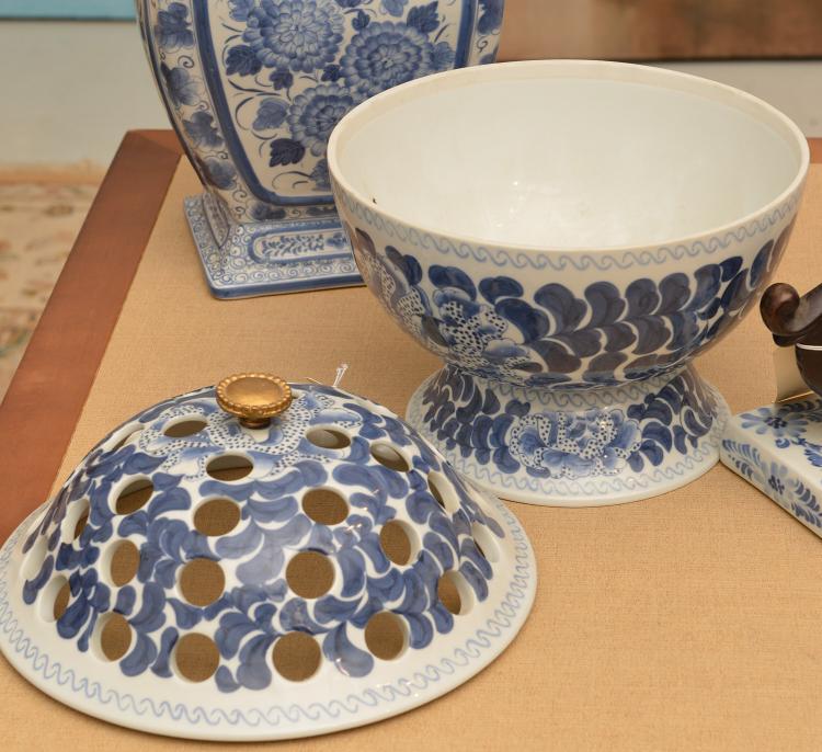 Maitland Smith 4 Blue And White Porcelains