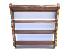 Victorian marquetry and parquetry wall shelf